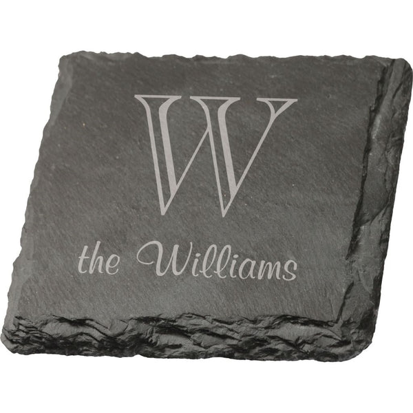 SQUARE SLATE COASTER - Engravable (ZCOA05)