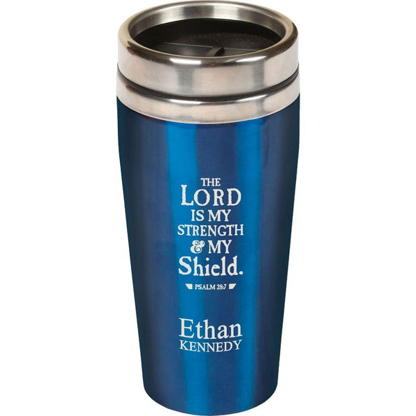 BLUE TRAVEL MUG (Engravable)