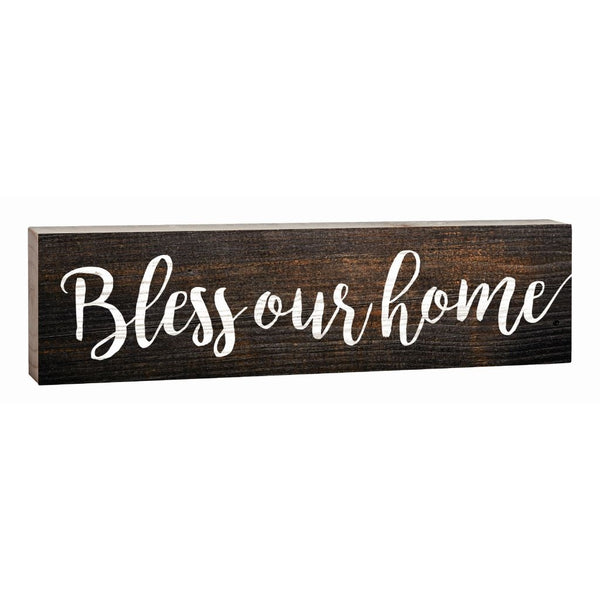 """Bless Our Home"" Block Decor - 1.5x6"