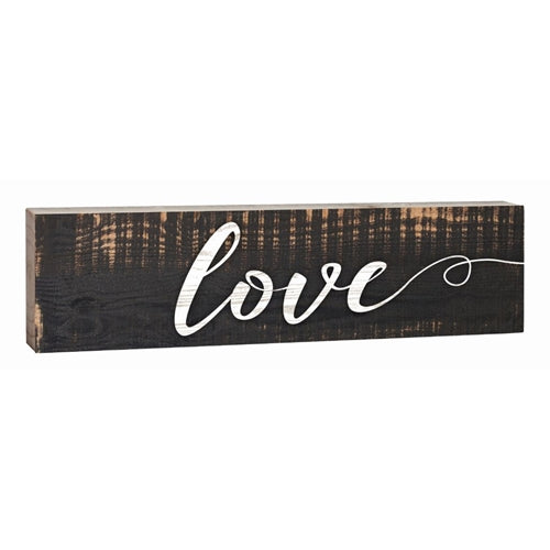 """Love"" Block Decor- 1.5x6"