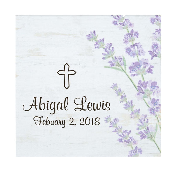 Lilac Floral Small Sign personalized