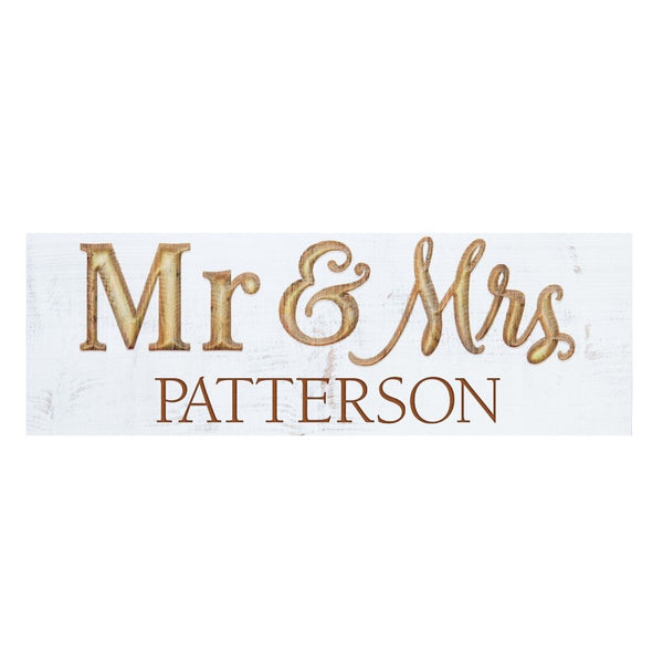 Mr. & Mrs. Carved Sign - Engravable (ZBHB0209)