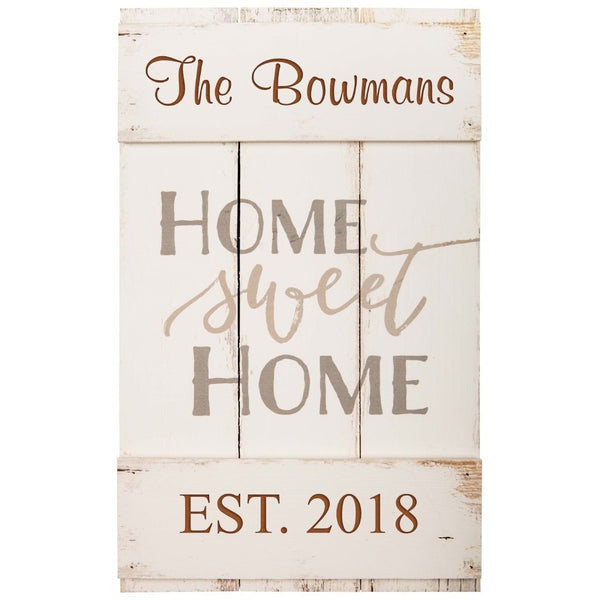 HOME SWEET HOME SIGN - Engravable (ZDOR001)