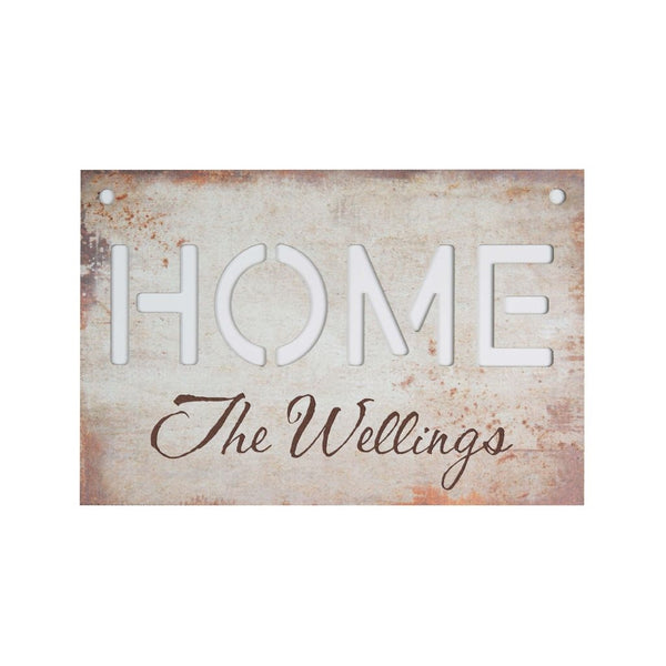 HOME FAUX METAL SIGN - Engravable (ZSAP0085)