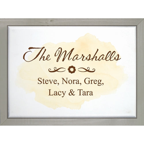Watercolor Framed Small Sign (Engravable)