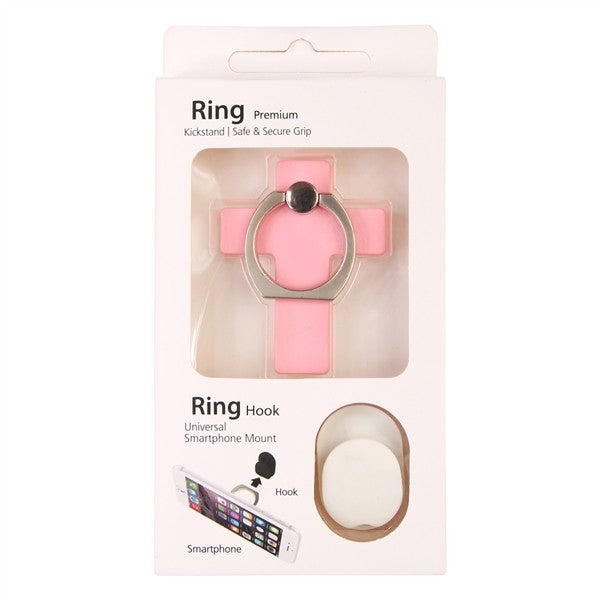 Cross Phone Ring Holder - Pink