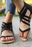 Livin' It Up Sandals in Black