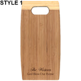 BAMBOO CUTTING BOARD - Engravable (ZNHC03) - Southern Grace Creations