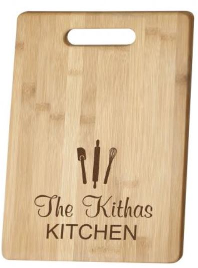 BAMBOO CUTTING BOARD - Engravable (ZNHC0044) - Southern Grace Creations