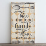 Bless the Food Before Us - Plank Wall Art
