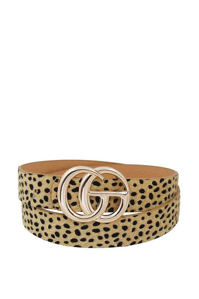 Cheetah Beige Belt
