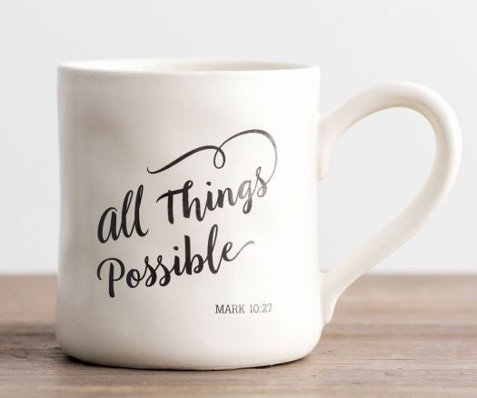 All Things Possible - Hand-Thrown Mug  DaySpring  Southern Grace Creations