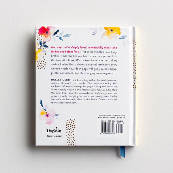 Holley Gerth - What's True About You - Gift Book  DaySpring  Southern Grace Creations