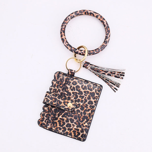 Leopard Keychain with Wallet