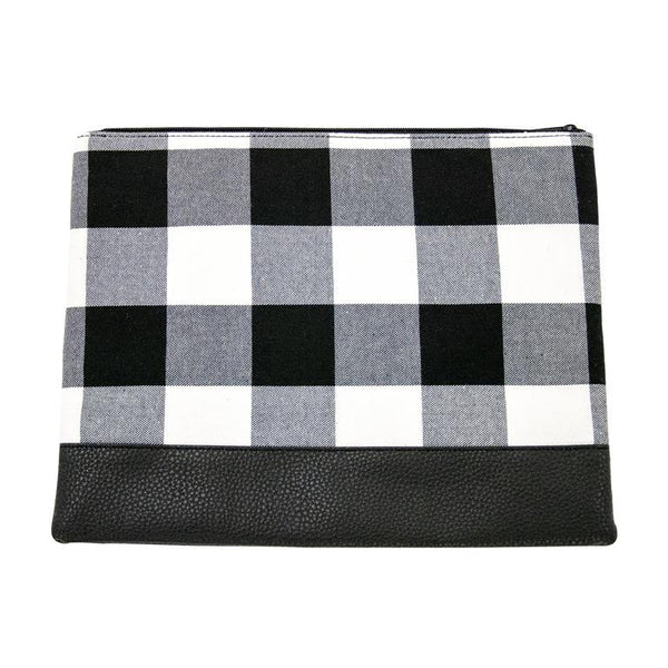 Buffalo Check Pouch