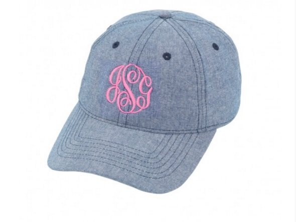 Monogrammed Hat - Southern Grace Creations