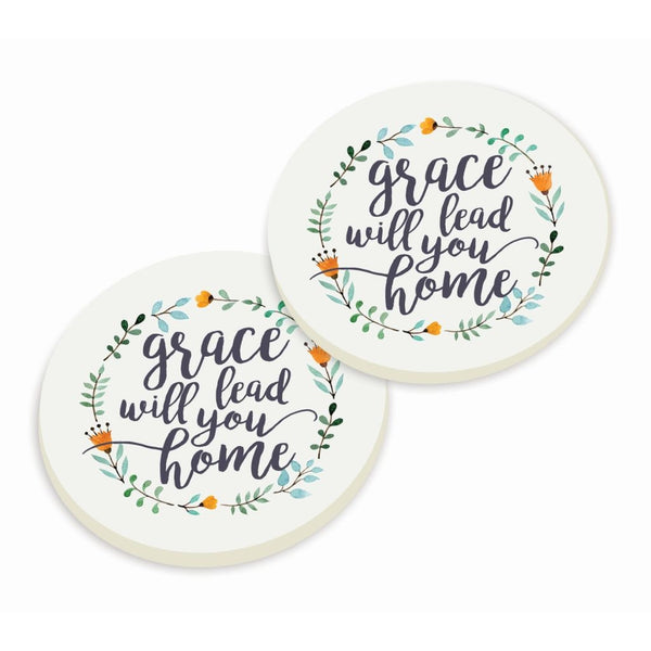 Grace Will Lead You Home Coaster Set