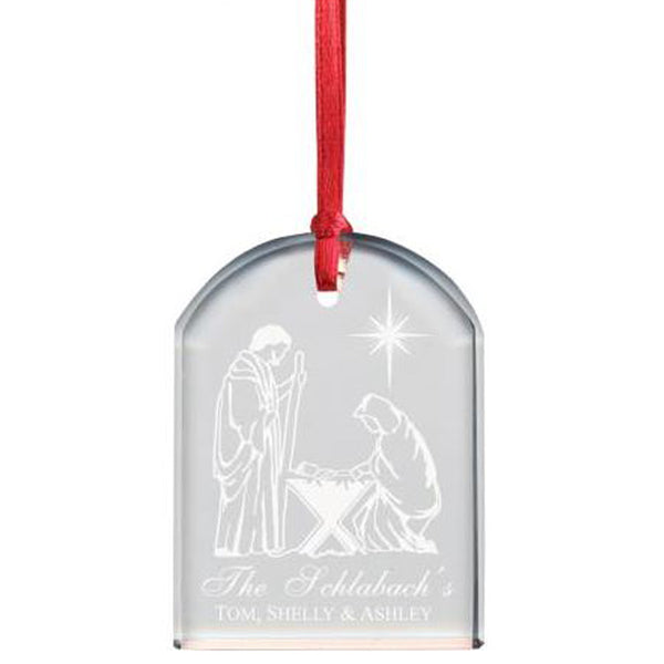 MEMORABLE ENGRAGED CRYSTAL DOME ORNAMENT - PERSONALIZED