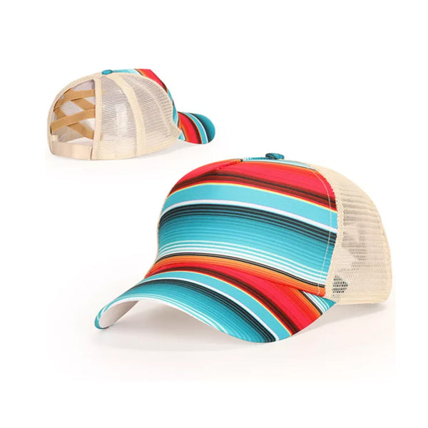 Colorful Stripe Baseball Cap