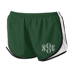 Monogrammed Athletic Shorts - Forest Green/White
