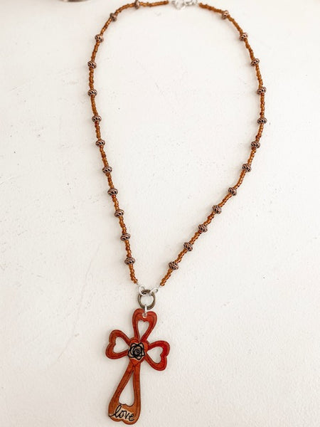 Love Cross Necklace