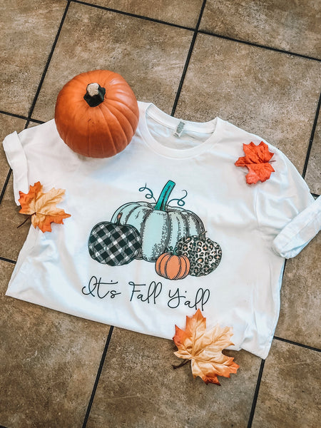 It's Fall Y'all Pumpkin Patch - White Short-Sleeve Tee