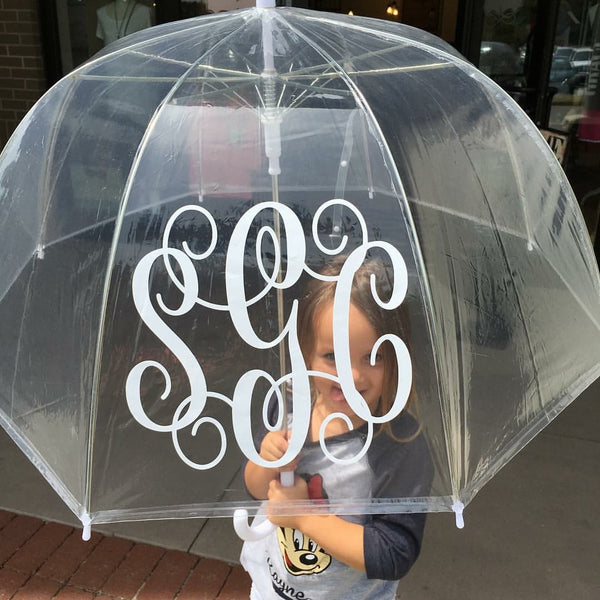 CLEAR BUBBLE DOME PLASTIC RAIN UMBRELLA