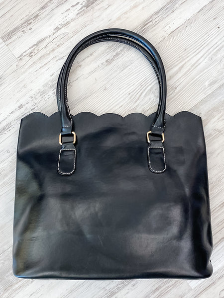 Black Scalloped Purse