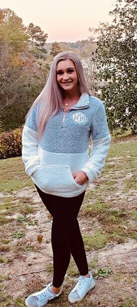 Double Take Grey/White Pullover