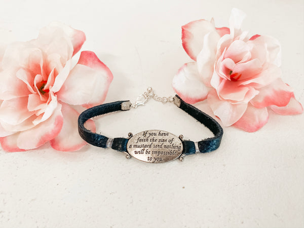 If You Have Faith Bracelet in Black