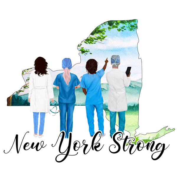 New York Strong - Medical - White Short-Sleeve Tee southern grace creations