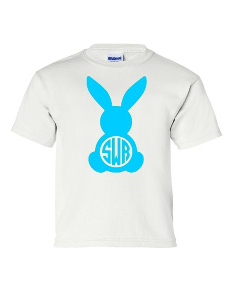 Monogrammed Bunny Shirt - Easter - Southern Grace Creations