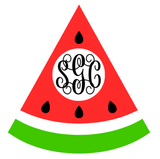Watermelon Monogram Tee - Southern Grace Creations