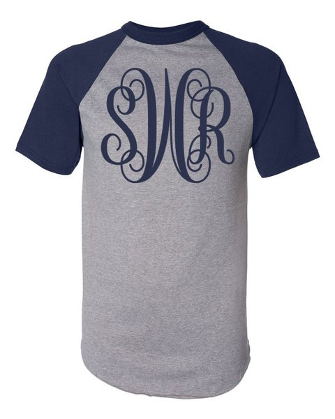 Monogram Short Sleeve Raglan