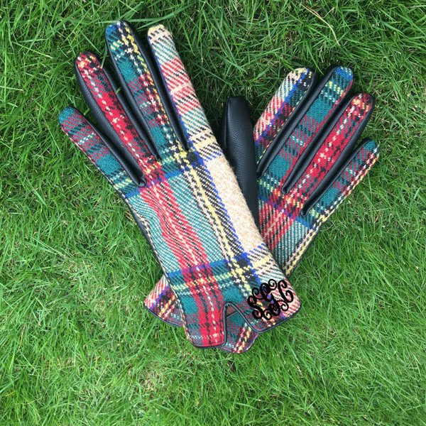 Monogrammed Gloves - Plaid - Southern Grace Creations