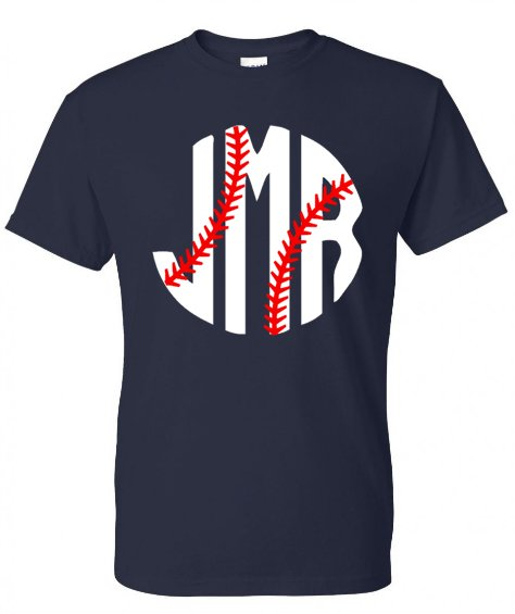 Big Baseball Monogram Tee - Southern Grace Creations