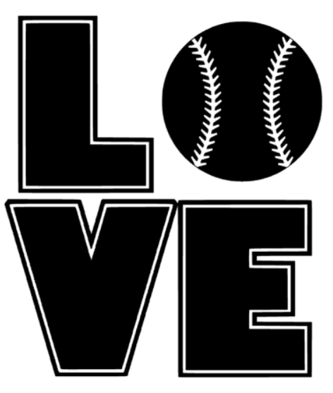Baseball Love Decal - Southern Grace Creations