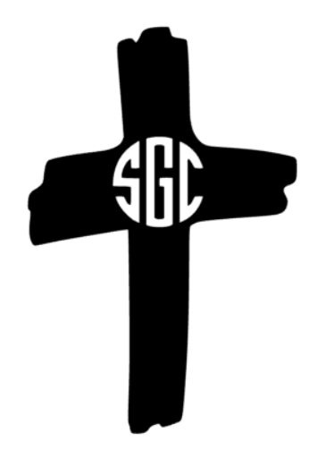 Cross Monogram Decal - Southern Grace Creations