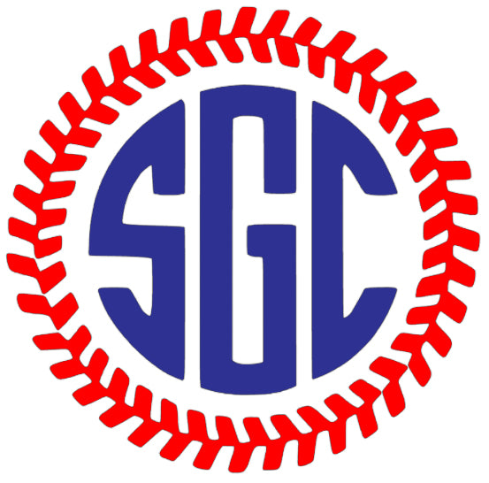 Baseball Stitches Monogram Decal - Southern Grace Creations