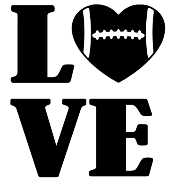 Football Love Decal - Southern Grace Creations