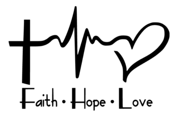 Faith Hope Love Decal - Southern Grace Creations