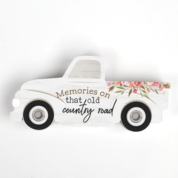 "Truck Shape Wood - ""Memories On That Old Country Road"""
