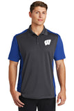Windsor - Sport-Tek Colorblock Micropique Sport-Wick Polo - Iron Grey/ True Royal (ST652) southern grace creations