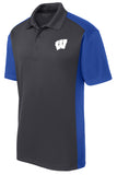 Windsor - Sport-Tek Colorblock Micropique Sport-Wick Polo - Iron Grey/ True Royal (ST652)