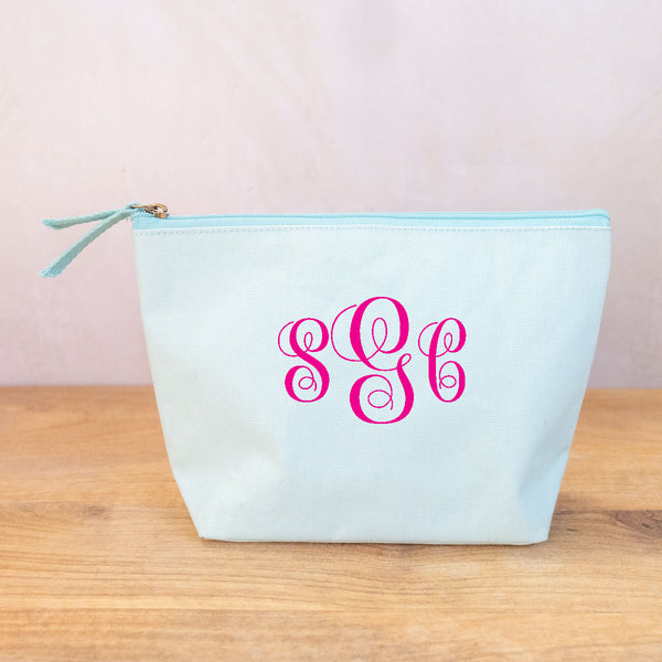 Shore Cosmetic Bag in Aruba Blue