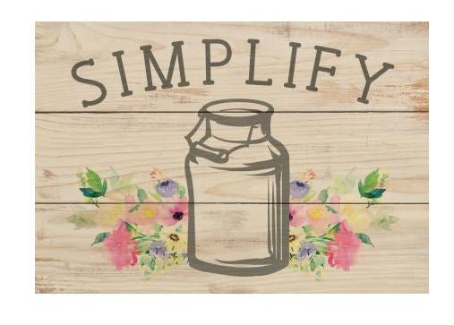 Mini Sign - Simplify