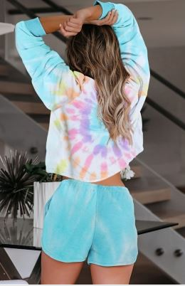 Tie Dye Lounge Set in Multi