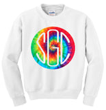 TIE DYE RAINBOW ROUND MONOGRAM SHIRT - Southern Grace Creations
