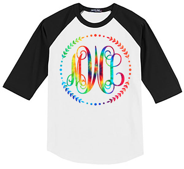 Sale TIE DYE RAINBOW VINE MONOGRAM SHIRT