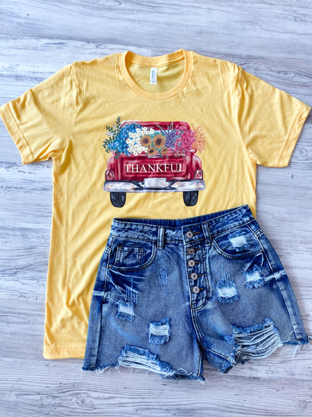 Vintage Personalized Truck - Yellow Tee